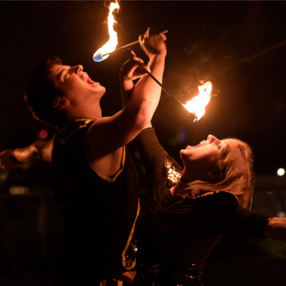 wedding fire eaters